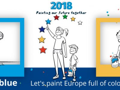 European Cooperation Day 2018: In the blue, painted blue! Let's paint Europe full of colors